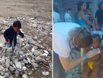 ONG leva ajuda humanitária a famílias que vivem no lixão do Jardim Gramacho