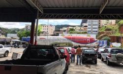 Carcaça de avião vai virar restaurante em Caratinga