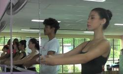 Ubaporanguense é selecionada para ser bailarina no Domingão do Faustão.