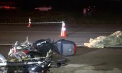 Motociclista morre ao cair na BR 116 e ser atropelado por uma carreta.