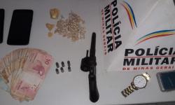 PM apreende mais de 100 pedras de crack e dinheiro em Pingo D'água. Suspeito de 18 anos foi preso na ação