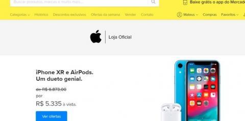 Apple abre loja no Mercado Livre com iPhones mais baratos e frete grátis