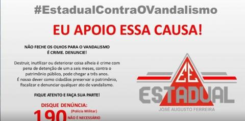 Escola José Augusto Ferreira é mais uma vez alvo de vandalismo