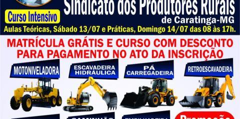 Cenep oferece curso de operador de maquinas pesadas em Caratinga