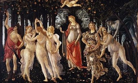 A deusa Afrodite e a Primavera