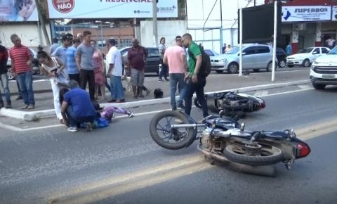 Acidente envolvendo duas motocicletas é registrado em Caratinga