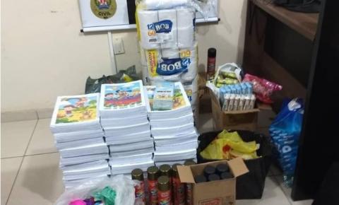 PC prende funcionários da prefeitura suspeitos de furtar material escolar, carne e por fazer ''gato'' em energia elétrica