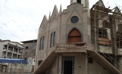 Reformas na igreja de São Judas Tadeu já são visíveis aos visitantes