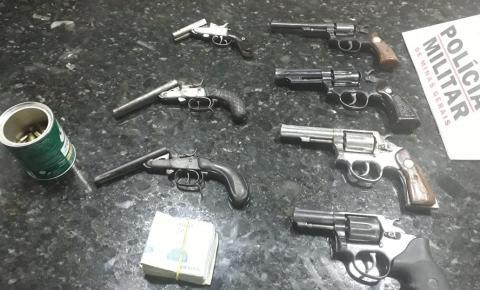 PM de Inhapim impede comércio ilegal de armas de fogo apreende diversas armas e munições