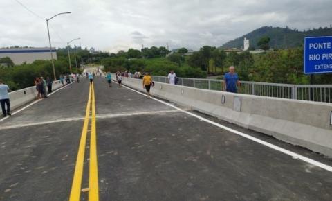 'Ponte Velha', que liga Coronel Fabriciano a Timóteo, é reaberta após sete anos de interdição