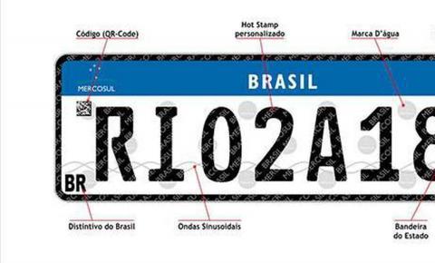 Placas com padrão do Mercosul entram em vigor em todo o país