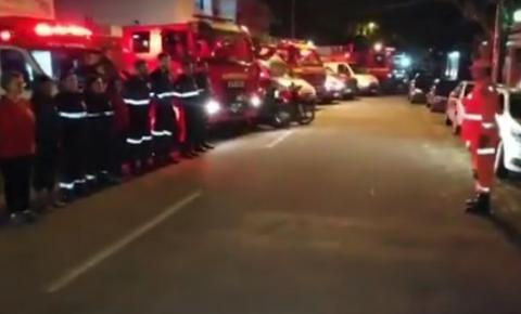 Batalhão dos bombeiros presta homenagem a soldado assassinado