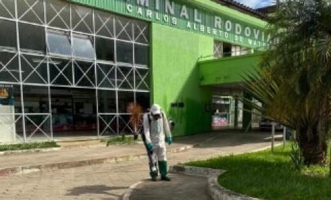 Prefeitura de Caratinga realiza higienização de espaços públicos