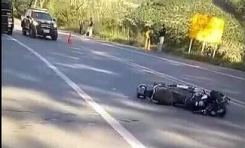 Jovem tem uma das mãos decepada em acidente na BR-116