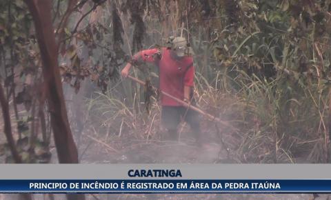 Princípio de incêndio é registrado em área de preservação ambiental da Pedra Itaúna