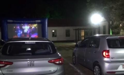 Cine Drive-in em Santa Rita de Minas realiza exibição teste durante o sábado