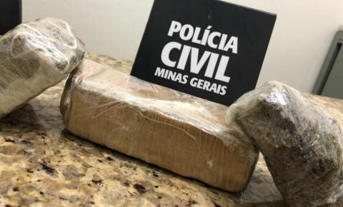 Polícia Civil prende jovem de Caratinga com drogas dentro de ônibus