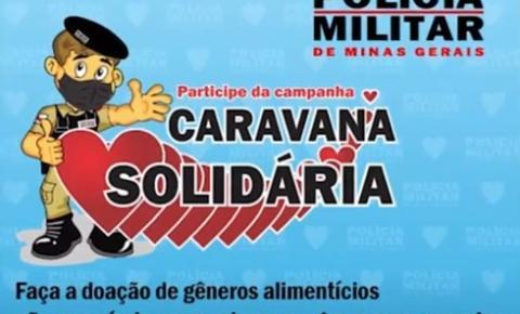 Ação caravana solidária busca arrecadar alimentos e outros produtos para doação a famílias necessitadas.