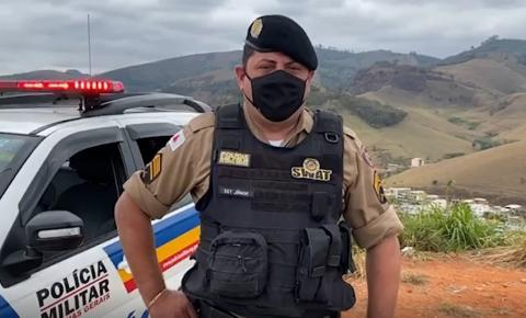 PM prende autor de roubo em Raul Soares e com uso de drone, localiza moto usada no crime