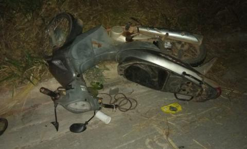 Acidente de moto deixa homem ferido na BR-116, em Santa Rita de Minas