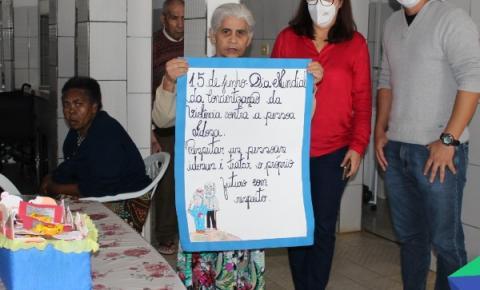 Ação sobre conscientização da violência contra pessoa idosa é realizada nos asilos de Ipanema
