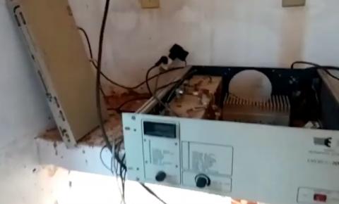 Aparelhos de antena de transmissão de TV aberta são furtados em Santa Bárbara do Leste