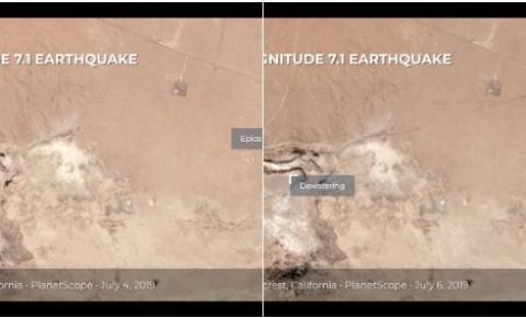 Terremoto na Califórnia criou rachadura que pode ser vista do espaço