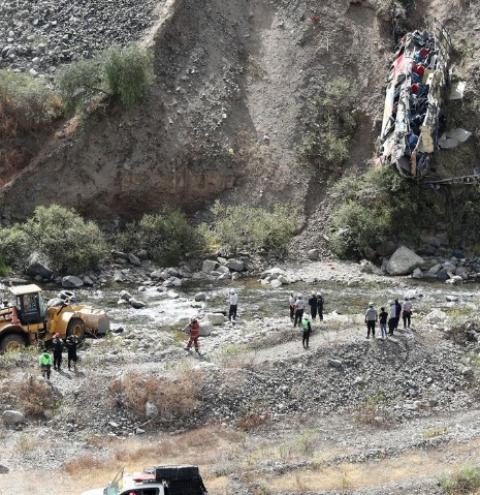 Acidente deixa pelo menos 33 mortos e 20 feridos no Peru